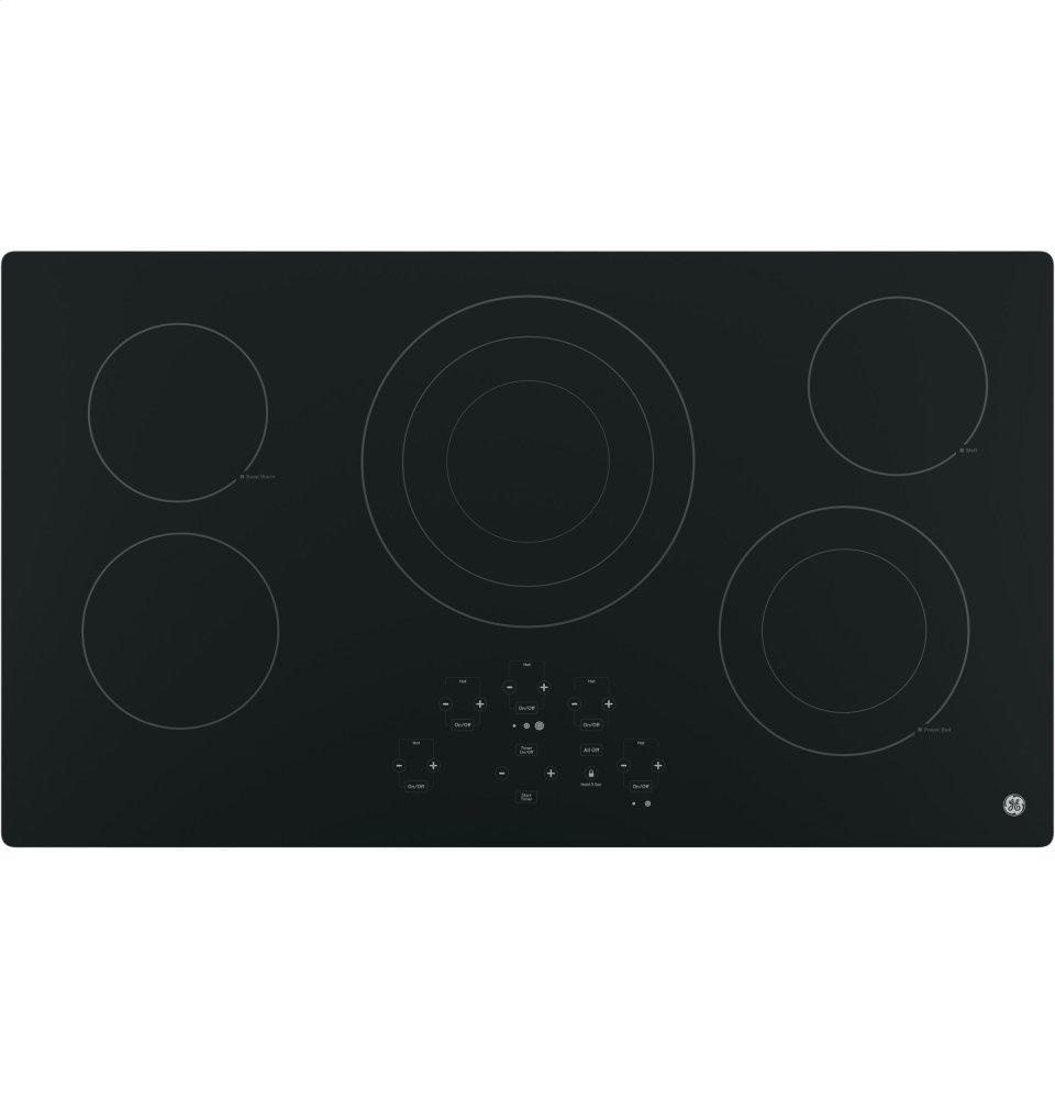 """GE(R) 36"""" Built-In Touch Control Electric Cooktop  BLACK"""