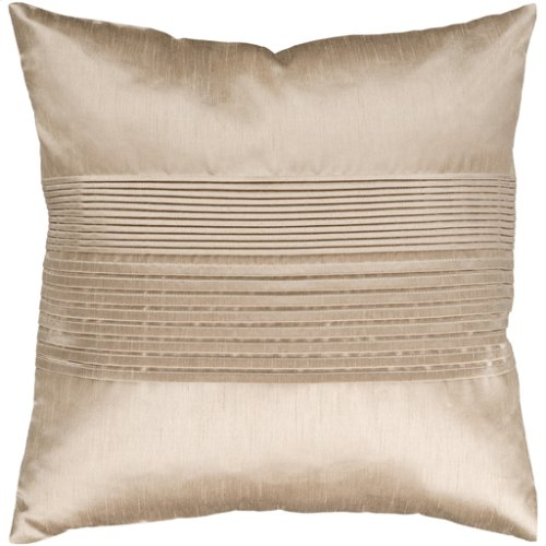 """Solid Pleated HH-019 22"""" x 22"""" Pillow Shell with Polyester Insert"""
