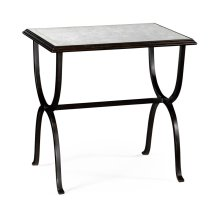 glomise & Bronze Iron Rectangular Side Table