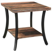 Surin Accent Table in Natural & Grey 2-Tone