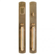 "Curved Entry Set - 2 3/4"" x 20"" Silicon Bronze Brushed"
