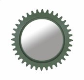 Epicenters Williamsburg Round Mirror - Green