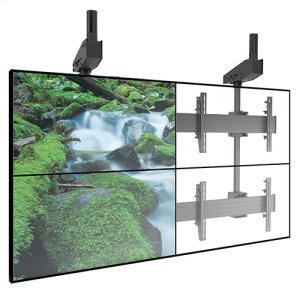 Chief ManufacturingFUSION Micro-Adjustable Large Ceiling Mounted 2 x 2 Video Wall Solutions