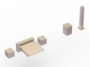 5-Hole Deck Mount Tub Filler - Brushed Nickel Product Image
