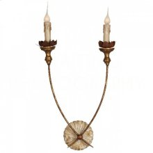 Hasselt Gold Wall Sconce