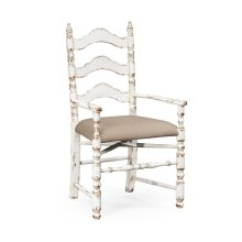 White Oak Ladder Back Country Chair (Arm)