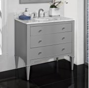 "Charlottesville w/Nickel 36"" Vanity - Light Gray Product Image"