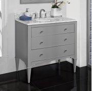 "Charlottesville w/Nickel 36"" Vanity - Light Gray Product Image"