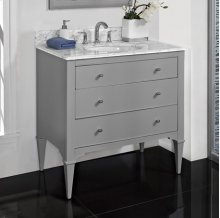 "Charlottesville w/Nickel 36"" Vanity - Light Gray"