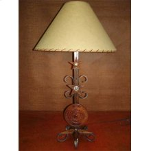 Metal Lamp With Texas Seal