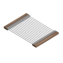 Drying Rack 215206 - Stainless steel sink accessory , Walnut
