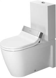 White Toilet Close-coupled, 1.6 Gpf, Water Saving 6-liter Flush