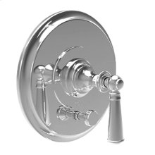 Antique Copper Balanced Pressure Tub & Shower Diverter Plate with Handle. Less Showerhead, arm and flange.