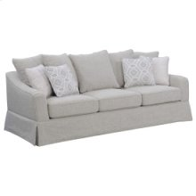 Sofa W/5 Back Pillows Riviera Sand & 4 Accent Pillows Feather Gray & Geometry Powder