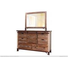 6 Drawer, 1 Sliding door, Dresser