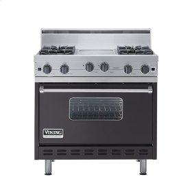 "Graphite Gray 36"" Open Burner Range - VGIC (36"" wide, four burners 12"" wide griddle/simmer plate)"