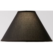 Natural Black Linen Iron Table Lamp Shade 15 inch