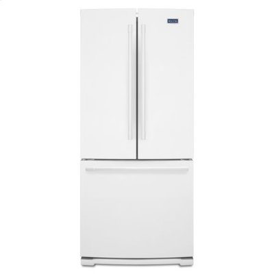 Maytag® 30-Inch Wide French Door Refrigerator - 20 Cu. Ft. - White Product Image