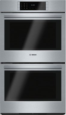 "GREAT PRICE FOR PREMIUM 30"" DOUBLE WALL OVEN (WRONG SIZE FOR CUSTOMER) - BOSCH Benchmark Series, 30"", Double Wall Oven, SS, EU conv./EU conv., TFT Touch Control - MODEL HBLP651UC - FULL WARRANTY"