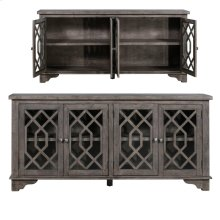 Pembroke Plantation Recycled Pine Distressed Grey 4 Door Sideboard