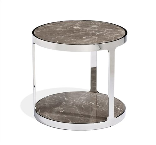 Soto Round Side Table - Marble
