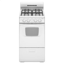2.6 cu. ft. 20 in. Gas Range with Oven Window - white