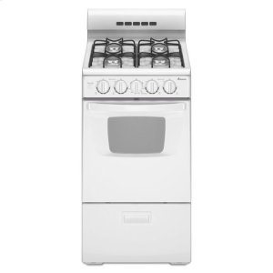 AMANA2.6 cu. ft. 20 in. Gas Range with Oven Window - white