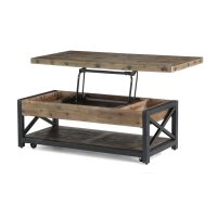 Carpenter Rectangular Lift-Top Coffee Table with Casters Product Image