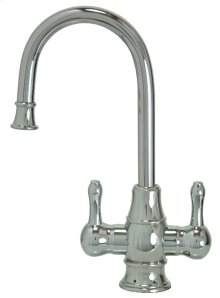 Francis Anthony Collection - Hot & Cold Water Faucet with Traditional Curved Body & Curved Handles - Polished Chrome