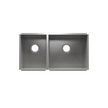 """UrbanEdge® 003678 - undermount stainless steel Kitchen sink , 12"""" × 16"""" × 8""""  18"""" × 16"""" × 8"""""""