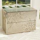 Flower Burst 2-Drawer Cabinet-Silver Product Image