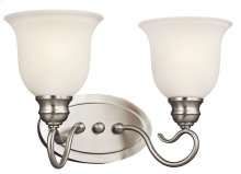 Tanglewood 2 Light Vanity Light Brushed Nickel