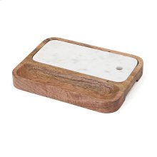 Kevia Wood and Marble Cheese Tray