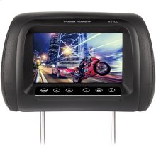"""7"""" LCD Universal Replacement Headrest Monitor with IR Transmitter & 3 Interchangeable Color Skins"""