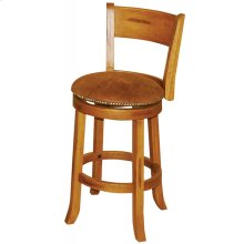 "Sedona Swivel 24"" Barstool With Back"