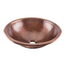 Medium Antique Alder Copper Bath Sink
