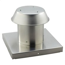 "Roof Cap, For Flat Roof, Aluminum, Up to 12"" Round Duct"