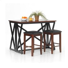 3 PIECE SET (PUB TABLE AND 2 STOOLS)