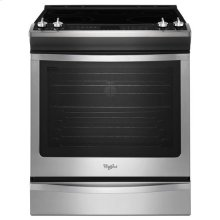 Stainless Steel Whirlpool® 6.2 cu. ft. Slide-In Electric Stove with TimeSavor™ Convection