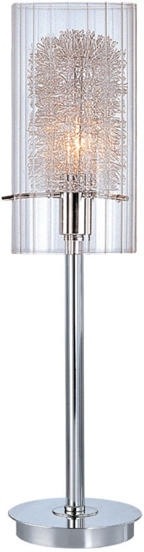 Table Lamp, Chrome W/clr Glass&alu Accent, E12 Type B 40w