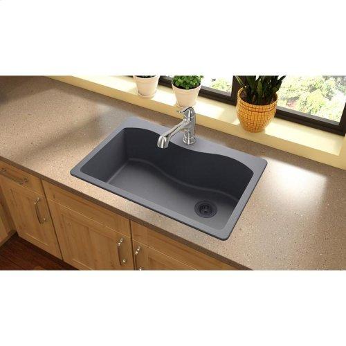 "Elkay Quartz Classic 33"" x 22"" x 9-1/2"", Single Bowl Drop-in Sink, Dusk Gray"