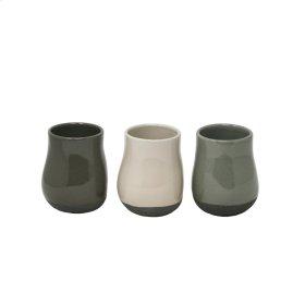 S/3 Small Ceramic Planters