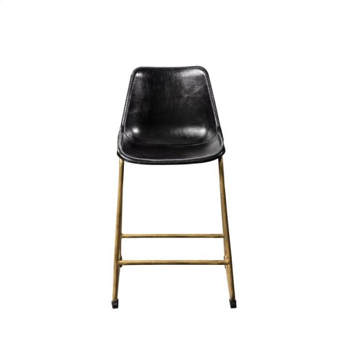 Rustic Black Counter-height Stool