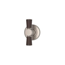 Tube Stitch Out Combination Leather In Chocolate And Satin Nickel