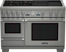 48 inch Professional Series Pro Grand Commercial Depth Dual Fuel Steam Range PRD48NCSGU