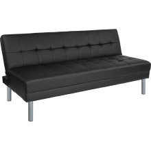 "Metropolitan 67"" Black Futon Bed and Couch"