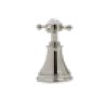 English Bronze Perrin & Rowe Georgian Era 4-Hole Deck Mount C-Spout Tub Filler With Handshower With Georgian Era Cross Handle