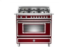 36 inch 6-Burner, Gas Oven Matt Burgundy