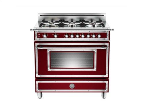 36 6-Burner, Gas Oven Matt Burgundy