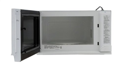 1.5 cu. ft. 1100W Sharp White Over-the-Counter Carousel Microwave Oven (R-1211)